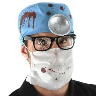 Evil Doctor Accessory Kit   Includes Glasses, Hat, Mask. Does not