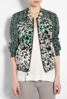 DKNY  Long Sleeve Zip Front Print Jacket by DKNY