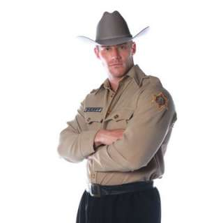 Adult Sheriff Costume Shirt   Police Officer Costumes   15UR29011