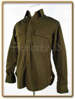 WW2 US Army Officer/NCO Olive Green Gabardine Shirt M