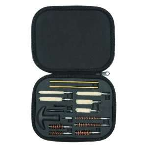 Handgun Cleaning Kit in Compact Molded Carry Case for .22 .45 Caliber