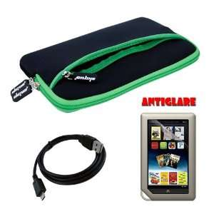 Skque Green Glove Series Carrying Bag Case + Anti glare Screen