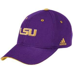 adidas LSU Tigers Purple Large Logo Structured Adjustable Hat