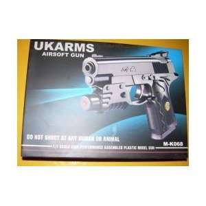200 Fps Airsoft Gun Pistol w/ Laser & Light Bb Sports