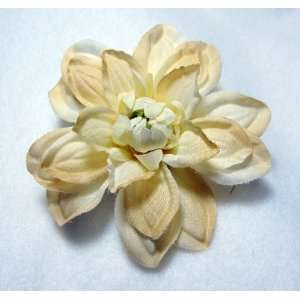 NEW Small Cream Ivory Dahlia Flower Hair Clip and Pin