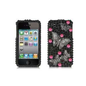 Apple iPhone 4 & 4S Protector Case COMPATIBLE 3D FULL DIAMOND IN BLACK