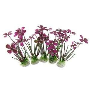 Como 5 Pcs Fish Tank Round Base 4 1/2 High Purple Clover