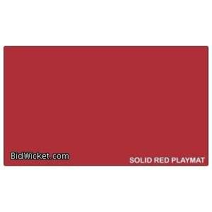 Play Mats   Blank Red Playmat (Perfect for Custom Art Drawing)) Toys