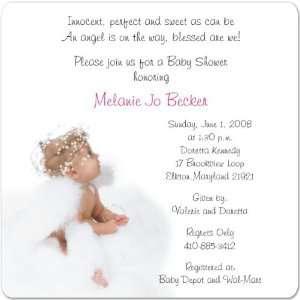 Angel Magnet Medium Baby Shower Invitations