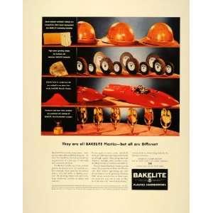 1941 Ad Bakelite Plastics Workmens Hard Hats Helmets