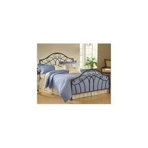 Panel Bed Set King with 6 Leg Bed Frame Metallic Brown