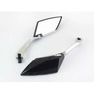 : Black Finish Custom Wing Motorcycle / Sportbike Mirrors: Automotive