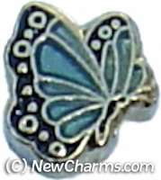 Butterfly Birthstone March Floating Locket Charm Jewelry