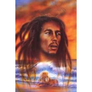 Bob Marley Lion    Print Home & Kitchen