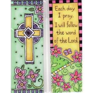 Magnetic Bookmarks   Each Day I Pray/Cross   Set of 2