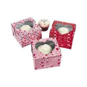 Dozen Cardboard Valentines Day Cupcake Boxes Toys & Games