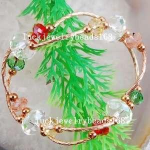 Multi color Crystal Stretch Tube Spacer Bracelet