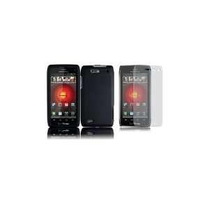 DROID 4 (Verizon) Premium Combo Pack   Black Hard Shield Case Cover
