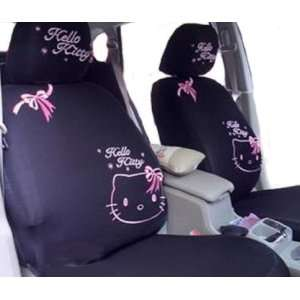 Cool2day 10pcs Kitty Auto Car Front Rear Seat Plush Cover Cushion Set