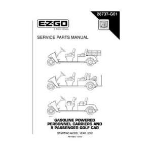 com EZGO 28737G01 2002 Service Parts Manual for Gas Personnel Carrier