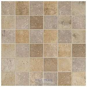 Marazzi tile   walnut canyon 2 x 2 porcelain mosaic in