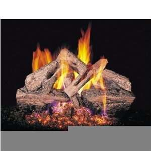 Peterson Gas Logs 24 Inch Charred Red Oak Vented Propane Gas Log Set