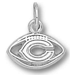 Chicago Bears NFL C Pierced Football 1/4 Pendant