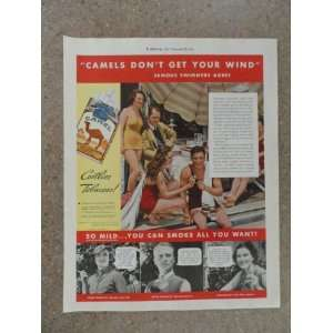 Camel cigarettes,Vintage 30s full page print ad (people