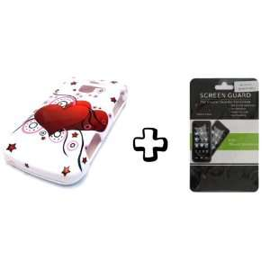BUNDLE LG Optimus Q L55c White Valentine Heart Balloon + CLEAR