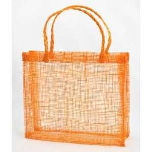 Orange Sinamay Mini Tote Bags 12 Pack Fabric: Everything Else