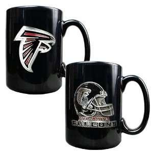 Atlanta Falcons NFL 2pc Coffee Mug Set Helmet/Primary Logo