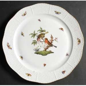 Herend Rothschild Bird (Ro) 12 Chop Plate (Round Platter), Fine China
