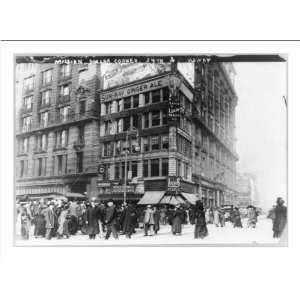 Historic Print (L) N.Y.C. street scenes  million dollar