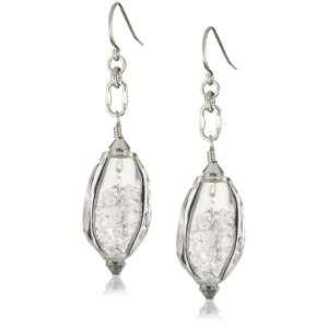 Drop Sterling Silver Swarovski Crystal Blown Glass Earrings Jewelry
