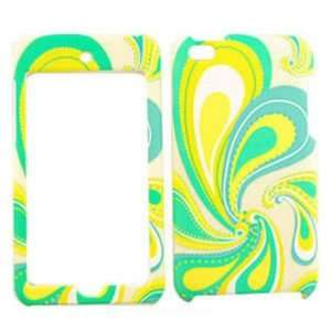 Apple iPod Touch 4 Green and Yellow Feather Hard Case