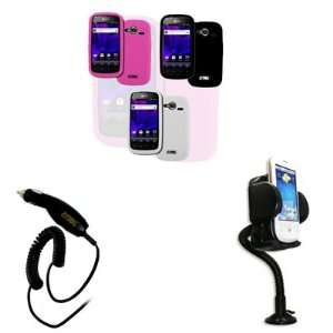 Covers (Hot Pink, Black, White) + Car Dashboard Mount + Car Charger