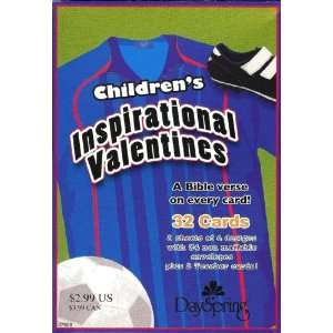 Sport Theme Valentine Cards for Kids with Scripture   Package of 32