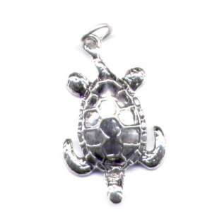 Sea Turtle Charm Sterling Silver Jewelry