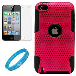 Metallic Pink Protective Rubberized Crystal Hard Snap on