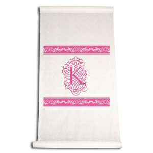 Aisle Runner, Fancy Font Letter K, White with Hot Pink: Home & Kitchen