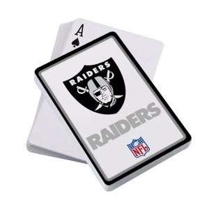 Oakland Raiders Logo Playing Cards: Sports & Outdoors