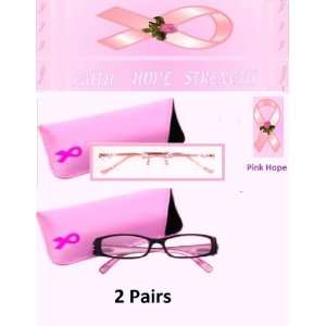 Pairs 2.00 Foster Grant Pink Hope Reading Glasses Including Pink