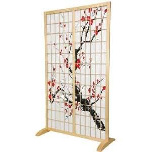 ft. Tall Cherry Blossom Freestanding Room Divider  NAT