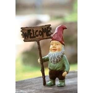 Garden Gnome Welcome Sign Patio, Lawn & Garden