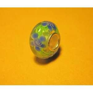 Glass Lampwork Silver Bead Fits Pandora Chamilia Troll Style Bracelet