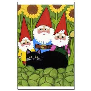 Garden Gnomes Black Cat Black cat pet animals garden gnomes