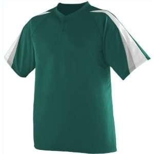 Augusta Sportswear Power Plus Custom Baseball Jersey DARK GREEN/WHITE