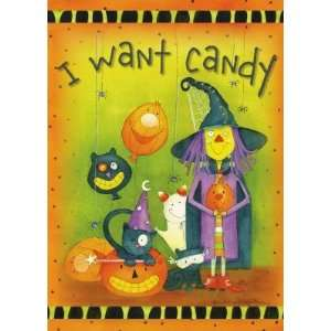 Halloween Candy Trick Or Treat Costumes Garden Flag Patio