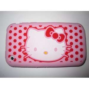 Phone 3G 3GS light weight Hello Kitty Silicone Case / Skin Pink Cell