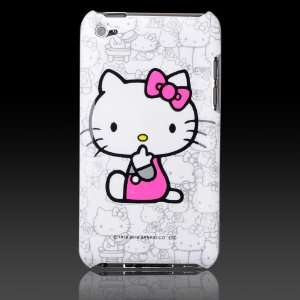 Hello Kitty on White Collage Images hard case cover for Apple iPod